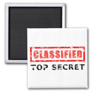 Classified Top Secret Square Magnet