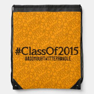 ClassOf2015 Customizable Drawstring Back Cinch Bag