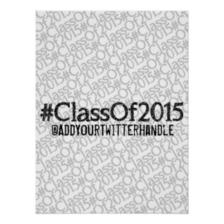 #ClassOf2015 Customizable Poster