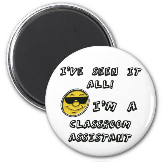 Classroom Assistant 6 Cm Round Magnet