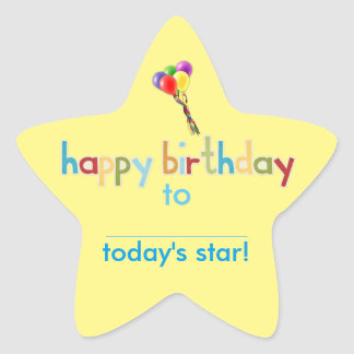 Classroom Birthday Star Stickers