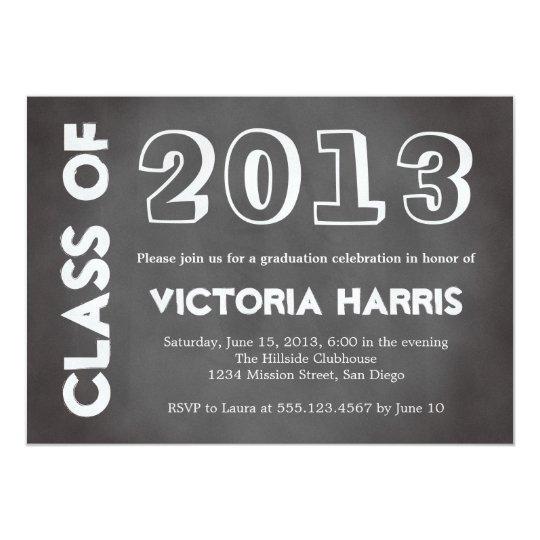 Classroom chalkboard student graduation stylish card