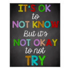 Classroom Decor, Classroom Quotes, Inspirational Poster