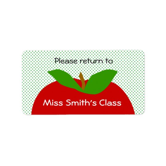 Classroom Label Please Return - apples