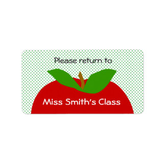 Classroom Label Please Return - apples Address Label