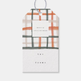 Classroom Plaid Gift Tags | B