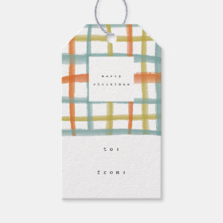 Classroom Plaid Gift Tags | C