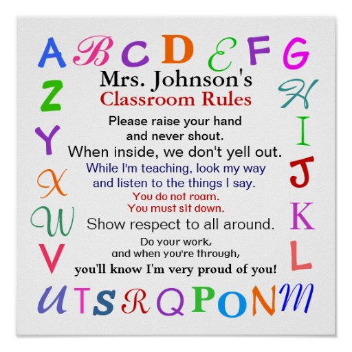 Classroom Rules # 2 by SRF Print