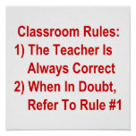 Classroom Rules (all red text)