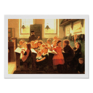 Classroom Scene Painting by Jacob Taanman Posters