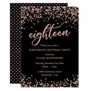 Pink Diamond And Leopard Print 18Th Birthday Party Personalised Invitations