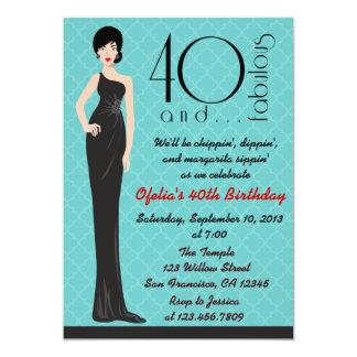"Classy 40th Birthday Invitation 5"" X 7"" Invitation Card"