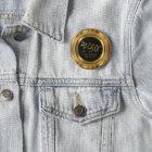 Classy 50th Golden Wedding Anniversary 6 Cm Round Badge