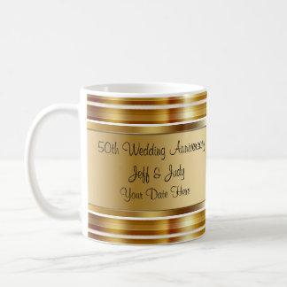 Classy 50th Wedding Anniversary Coffee Mug