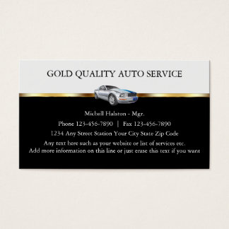 Classy And Cool Automotive Business Cards