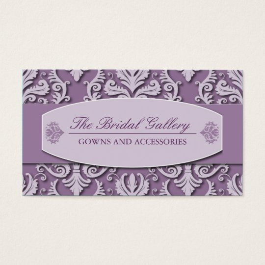 Classy and Elegant Damask Business Card