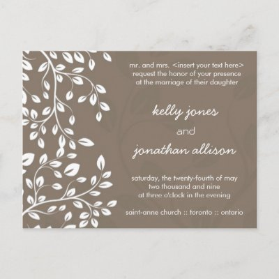 Classy and Elegant Wedding Invitation Postcards by colourfuldesigns