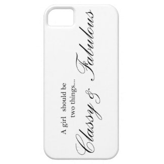 Classy and Fabulous Womens iphone 5 cover text bla