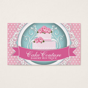 Blue cake business cards business card printing zazzle uk classy and modern cake designer business cards reheart Images