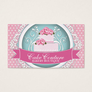 Cake business cards business card printing zazzlecouk for Cake business card ideas