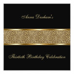 Classy Animal Print Invite [Leopard - Black]