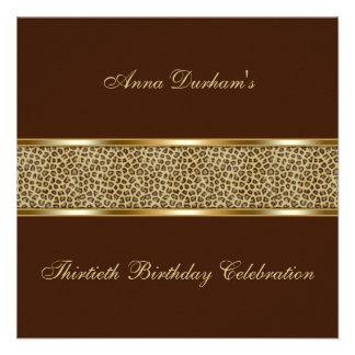 Classy Animal Print Invite Leopard - Brown