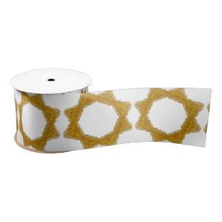 Classy Antique Gold Filigree Design Satin Ribbon