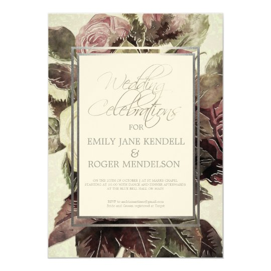 Classy Antique Oil Painting Wedding Invitation