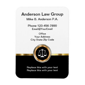 Classy Attorney Magnetic Businesscards Rectangular Photo Magnet