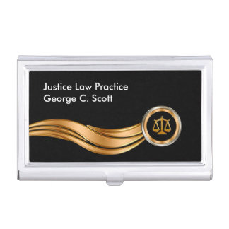 Classy Attorney Theme Case For Business Cards