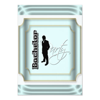 Classy bachelor stag party personalize 13 cm x 18 cm invitation card