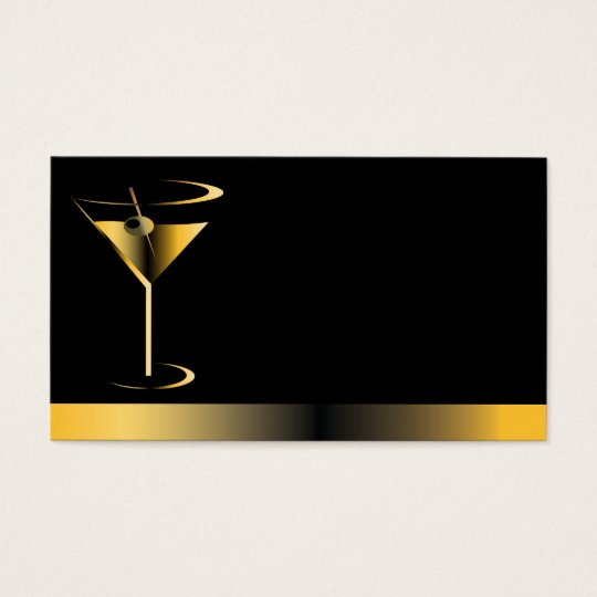 Classy bartender business cards