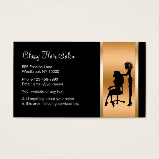 Classy Beauty Salon Business Card