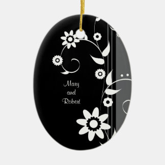 Classy Black and White First Christmas Together Christmas Ornament