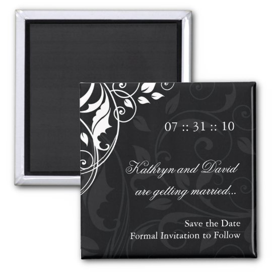 Classy Black and White Magnet