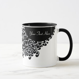 Classy Black And White Ornate Pattern Mug