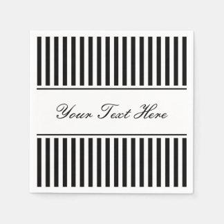 Classy black and white striped napkins for wedding disposable napkin