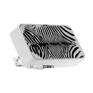 Classy Black and White Zebra Skin Travelling Speakers