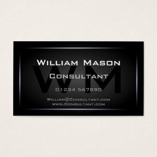 Classy Black Framed Monogram Professional