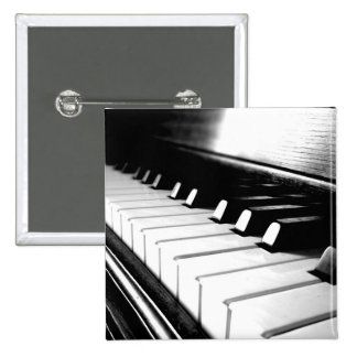 Classy Black & White Piano Photography 15 Cm Square Badge