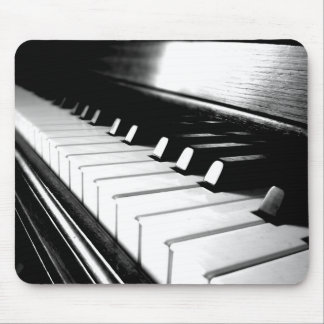 Classy Black & White Piano Photography Mouse Mat