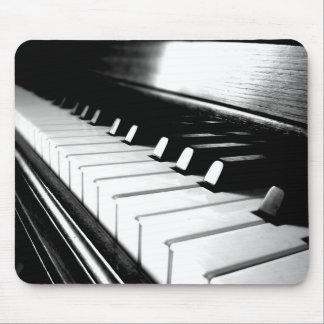 Classy Black White Piano Photography Mousepad