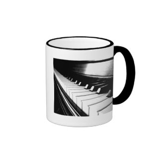 Classy Black & White Piano Photography Mug