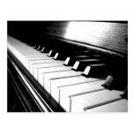 Classy Black & White Piano Photography Postcards