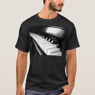 Classy Black & White Piano Photography T-Shirt
