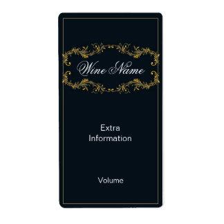Classy Black Wine Label