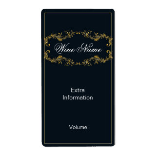 Classy Black Wine Label Shipping Label