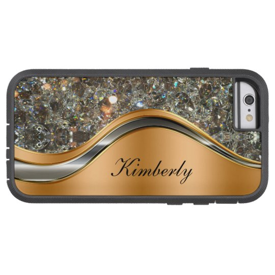 Classy Bling Monogram Design Tough Xtreme iPhone 6