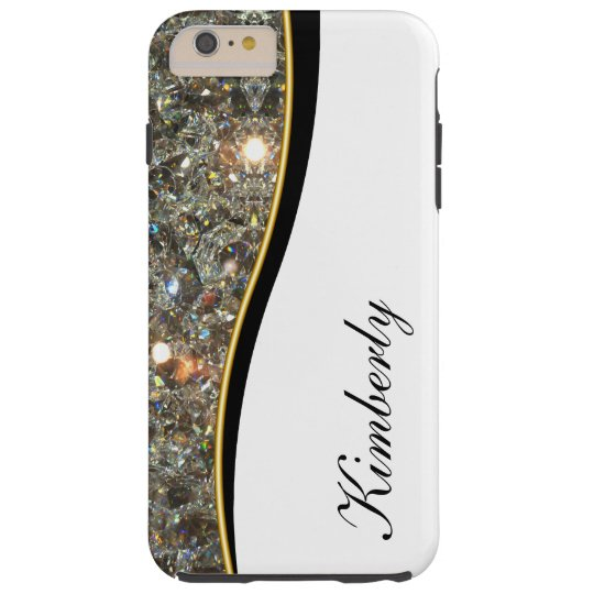 Classy Bling Monogram Style Tough iPhone 6 Plus
