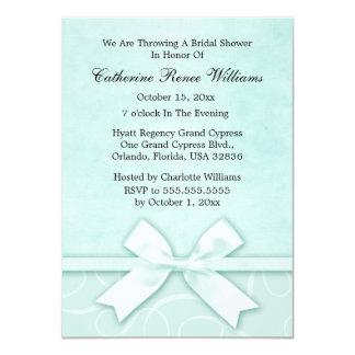 Classy Blue Green Bridal Shower Invitation